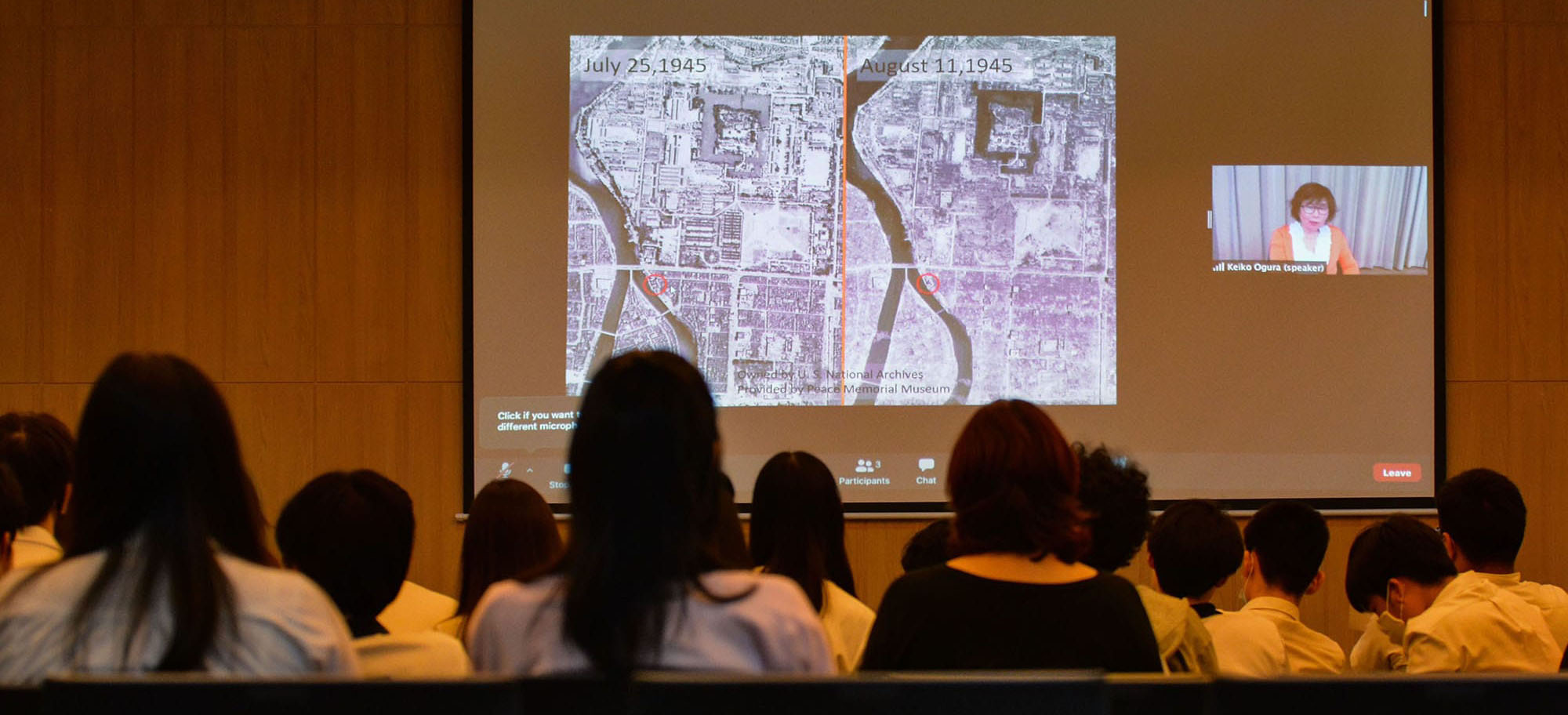Activist and storyteller Keiko Ogura, a survivor of the atomic bombing of Hiroshima, speaks to IB Language & Literature students via Zoom.