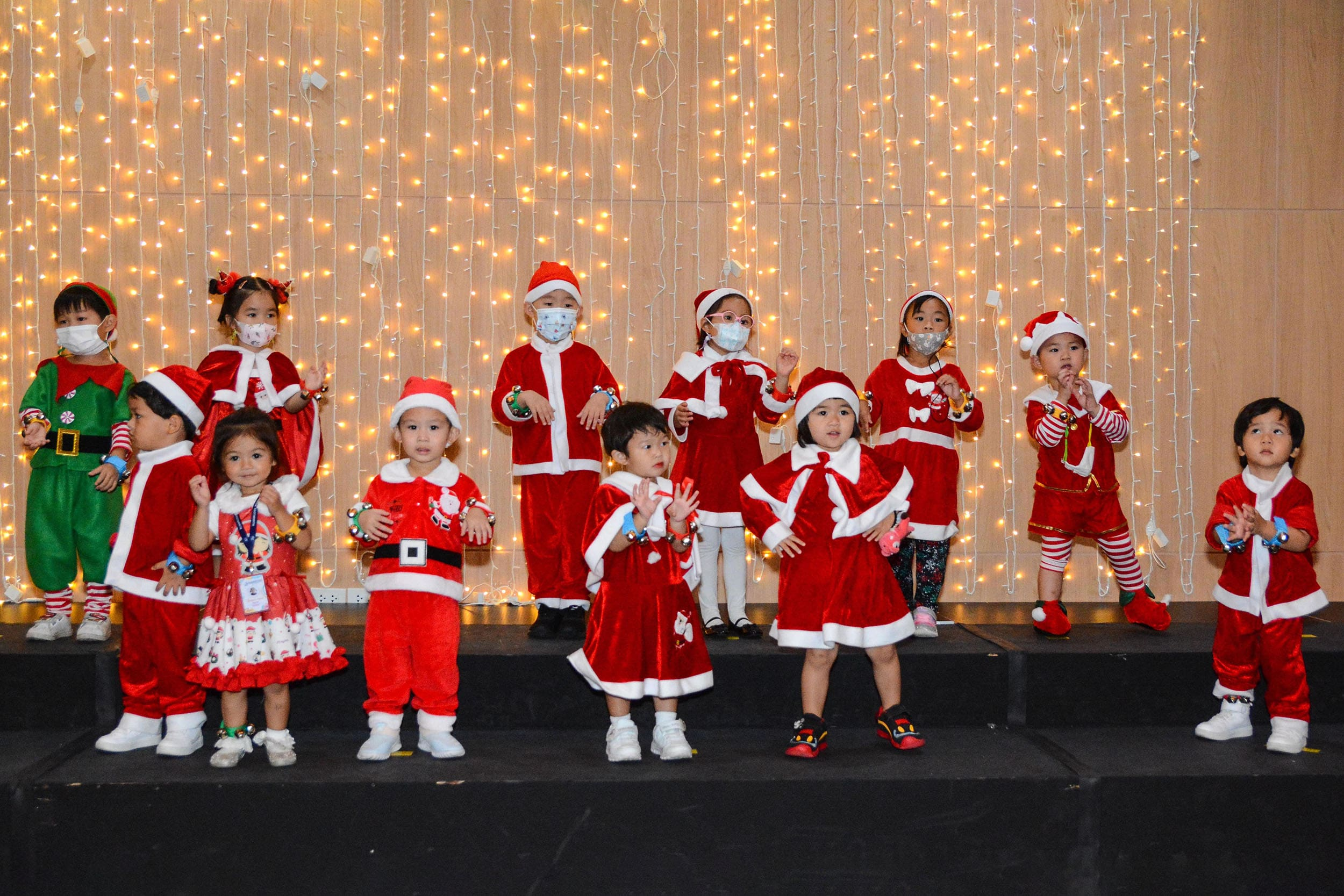 The RIS Early Years Campus kids perform in the Pre-K Christmas show at RIS Minburi